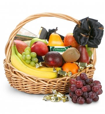 Fruit Gift Baskets: The Chocolate & Fruit Orchard